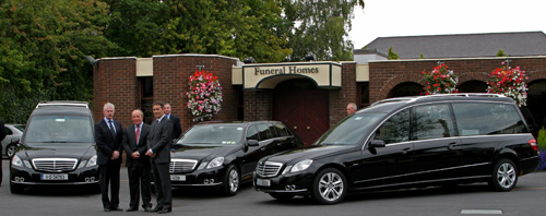 Funeral vehicles at Nichols Funeral Directors