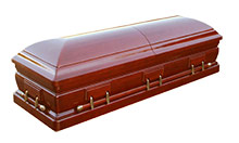 Dark Stained Coffins with Nichols Funeral Directors